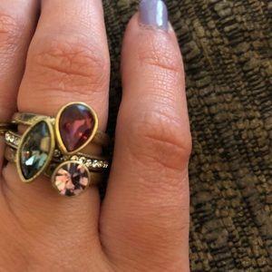Chloe + Isabel 3 stackable rings